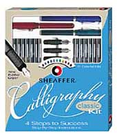 Sheaffer Pen Calligraphy Maxi Kit, Assorted Colors